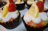 Cupcakes de frambuesa limón Poke