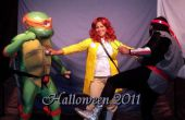 Teenage Mutant Ninja Turtles - Trifecta: TMNT Michelangelo, soldado del pie y April O'Neil