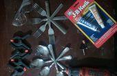 Cómo hacer un utensilio de tenedor-cuchara para camping