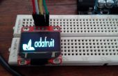 Arduino Serial Terminal Oled con biblioteca de Adafruit SSD1306