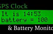 Super reloj de precisión GPS y Monitor de baterías