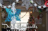Deck the Halls con papel! Los copos de nieve 3D, cadenas de papel, calendario de Adviento y mucho más!
