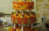 Fresco fruta tres niveles torta de la boda