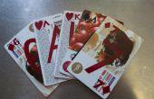 Regalo tarjetas transformado en jugar a las cartas
