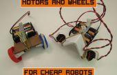 Motores y ruedas para Robots baratos
