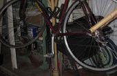 Soporte de bicicleta de bambú y defensa