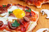 Pizza de desayuno casero