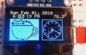 Despertador DS3231 OLED con menú de 2 botones de ajuste y visualización de la temperatura