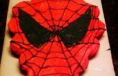 Pastel de cupcake de Spider-Man