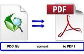 Pepakura - convertir de DOP a PDF
