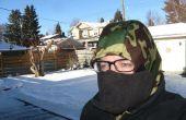 Sombrero de invierno cálido con ninguna niebla facecover
