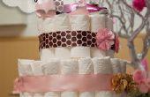 Bebé ducha pañal Cake Tutorial