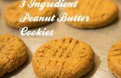 Fácil, impecable, 3 galletas de mantequilla de cacahuete ingredientes