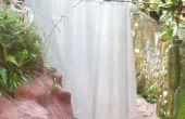 CORTINA de ducha - Silicona y estera de la fibra de vidrio