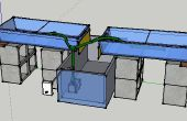 Sistema hidropónico de flujo y reflujo simple