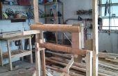 Construcción de un torno de poste vikingo sin usar corriente