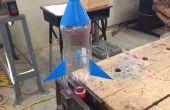 3D impreso partes del cohete de botella