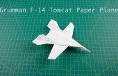Cómo doblar su avión de papel: avión de combate de F14