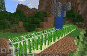 Automatizado de granja de caña de azúcar en Minecraft PE
