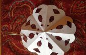 Copo de nieve ornamento de papel