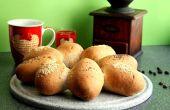 Bollos de pan de trigo integral rápido