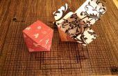Caja de regalo de San Valentín de papercraft