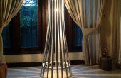 Lámpara de piso de madera del listón elegante fácil