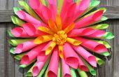 Guirnalda de la flor de papel Dalia