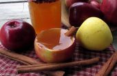 Cóctel de tarta de manzana + Cool Apple que sirve Copa