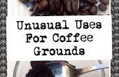Inusual utiliza para café molido