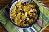 Fruta paquistaní Chaat (ensalada) con Chaat masala (receta incluida)