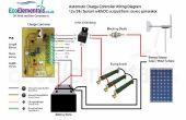 Diagrama de conexiones de regulador de carga para DIY aerogenerador o paneles solares