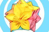 Kusudama de origami de flores + bola