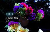 Luz flores corona