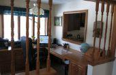 Antes y después - azulejos decorativos reemplazar madera husos