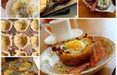 Hash Brown cestas del huevo