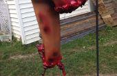 Partes del cuerpo con sangre