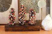 Alquiler de vacaciones DIY: Árboles de piña con lana afieltrada