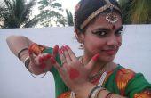 Cómo usar un vestido de danza Bharatanatyam