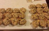 Nuez galletas de avena con pasas de uva