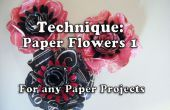 Cómo hacer papel flores (Style1 para proyecto 161)