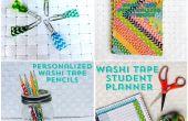 4 fácil regreso a la escuela de bricolaje con cinta Washi