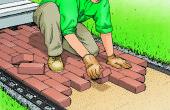 Construir una calzada de ladrillo