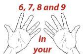 Tablas de multiplicacion de 6, 7, 8 manos de las de at y 9