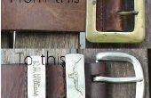Cómo renovar las correas de cuero viejo o hacer uno desde cero