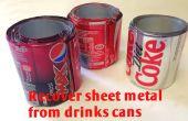 Reciclar chatarra - reciclaje de latas de bebidas