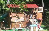 Barco pirata Playhouse / Treehouse / fuerte / columpio / problemas con esposa
