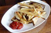 ACEITE frío las patatas fritas y patatas fritas