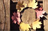 Guirnalda de hojas de papel