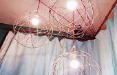 Esfera bola de alambre luminarias